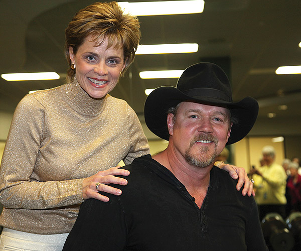 Country music artist and fellow Louisiana Tech University alum, Trace Adkins, sang the national anthem at a Lady Bears basketball game last February.