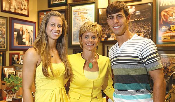 Mulkey with her children, Makenzie and Kramer Robertson.